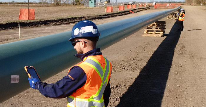 Inspection of pipeline construction using Pipeline Enterprise software