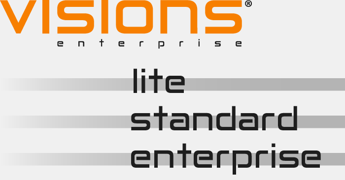Visions Enterprise software packages - Lite, Standard and Enterprise